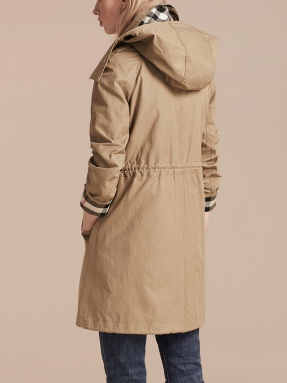 Canvas Hooded Cotton Blend Parka with Detachable Warmer Canvas - cell image 2