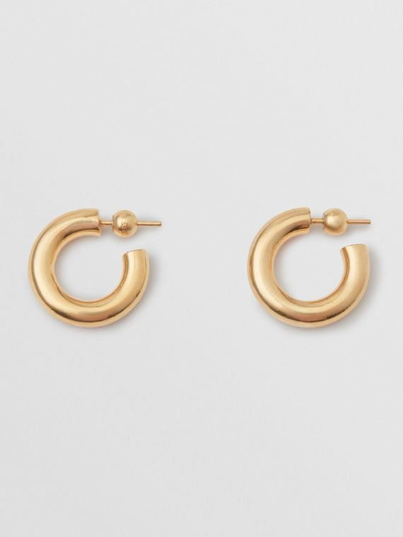 Gold-plated Hoop Earrings in Light