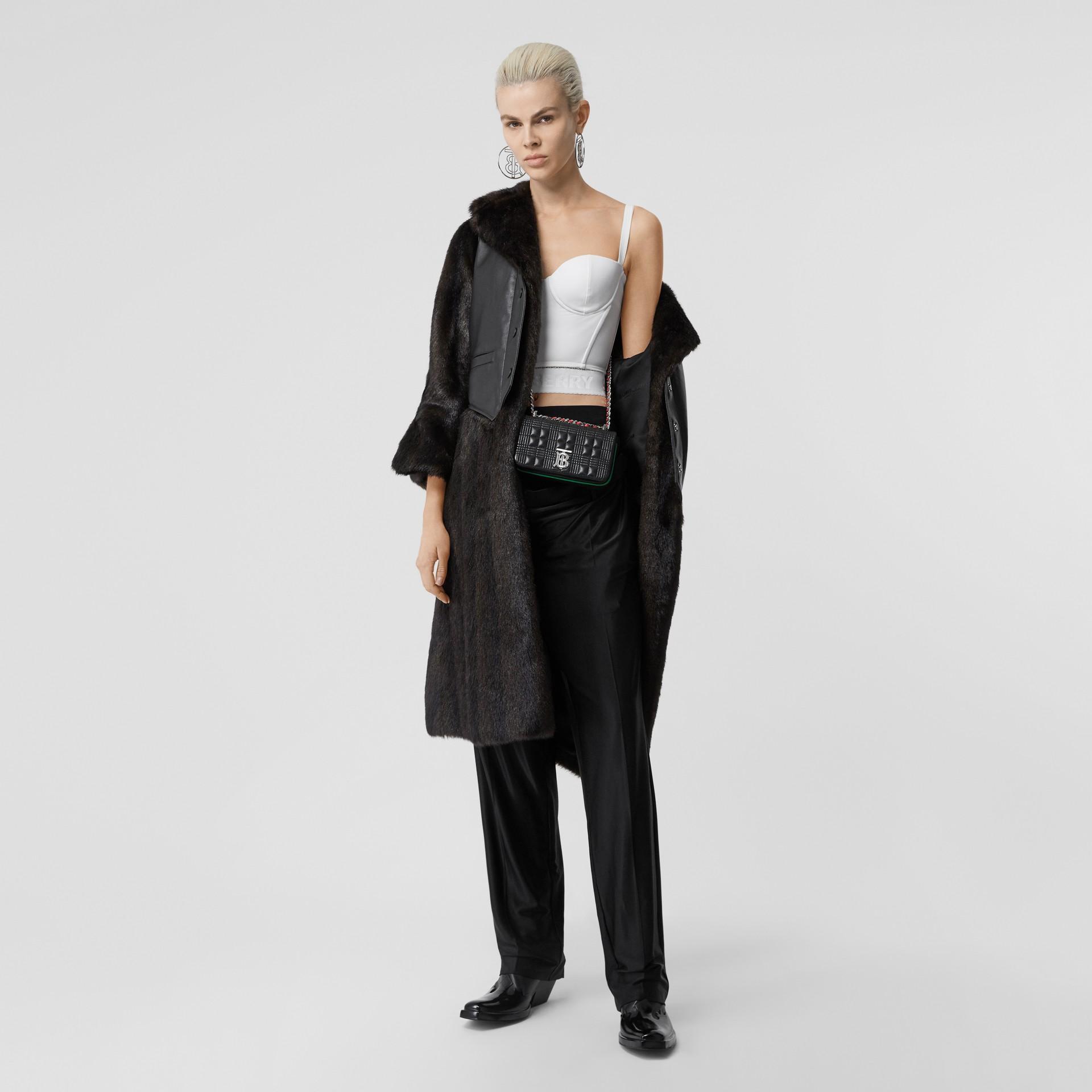Calças de malha com cintura dupla (Preto) - Mulheres | Burberry - galeria de imagens 0