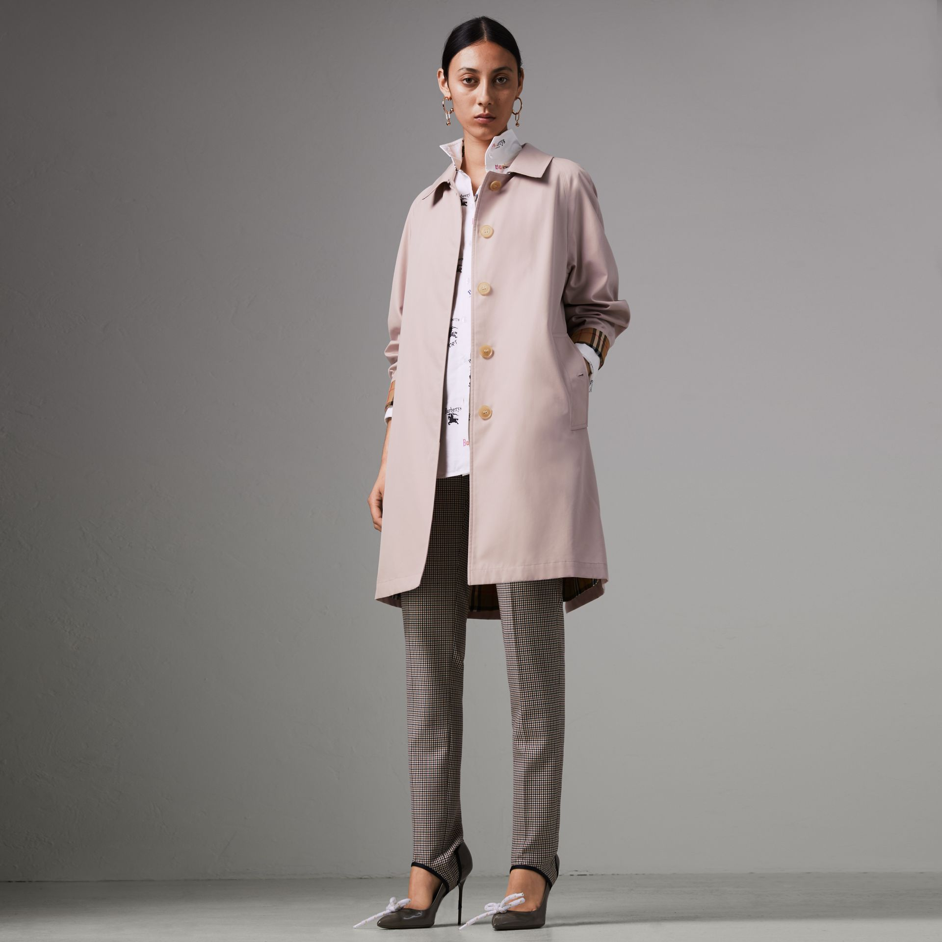 The Camden Car Coat in Ice Pink - Women | Burberry - gallery image 0