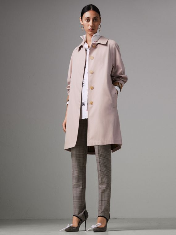 The Camden Car Coat in Ice Pink