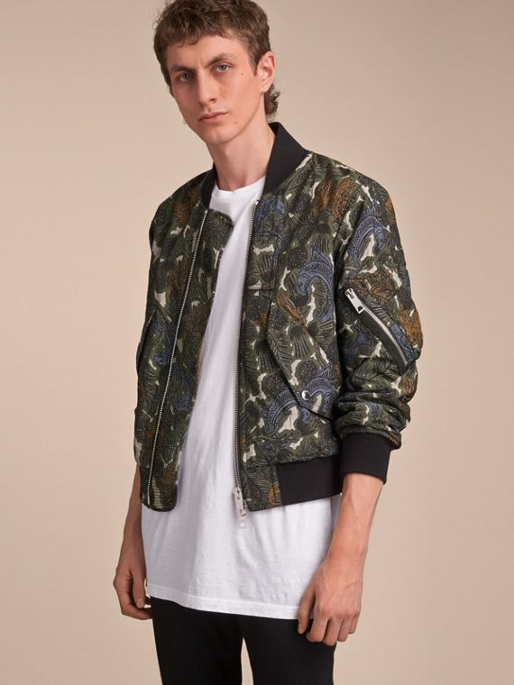 비스트 프린트 라이트 보머 재킷 - 남성 | Burberry