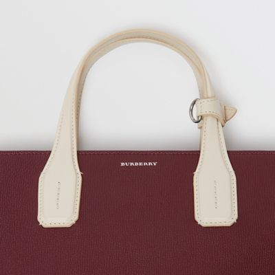 Burberry - Sac The Banner moyen en cuir bicolore - 2