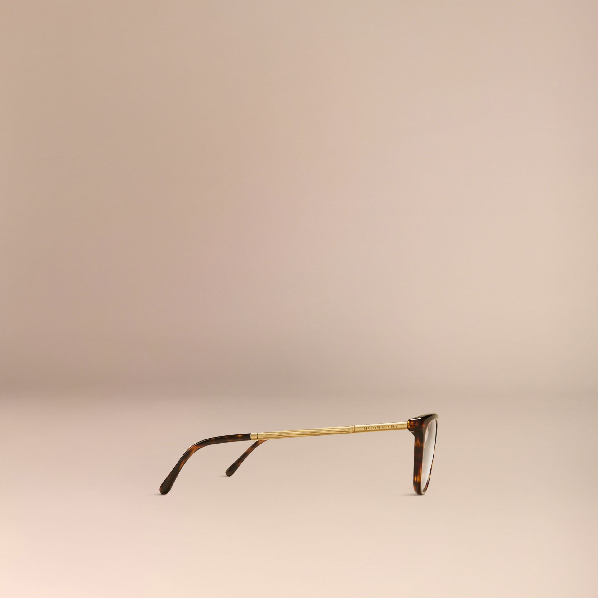 Gabardine Collection Cat-Eye Optical Frames Tortoise Shell - gallery image 4