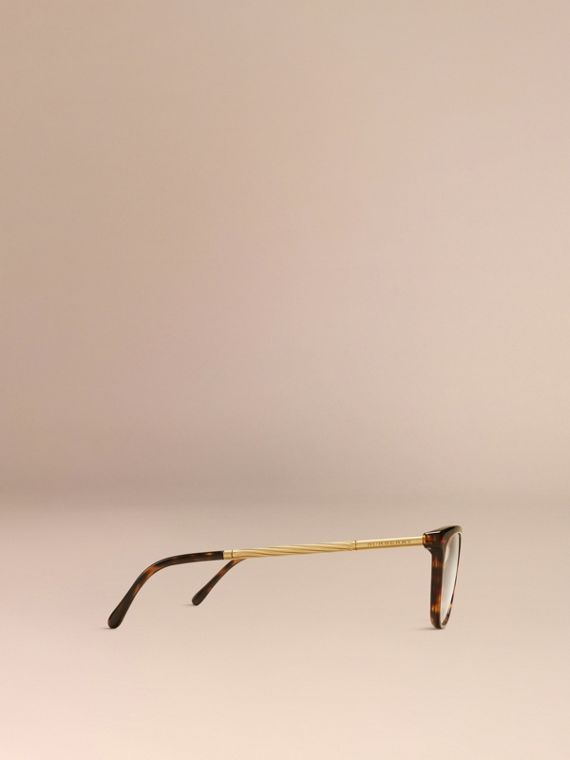 Gabardine Collection Cat-Eye Optical Frames in Tortoise Shell - cell image 3
