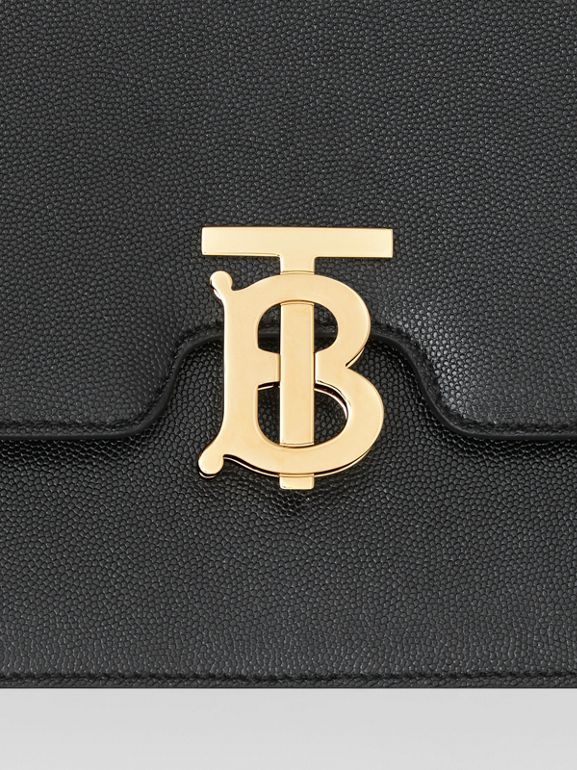 Small Grainy Leather TB Bag in Black - Women | Burberry - cell image 1