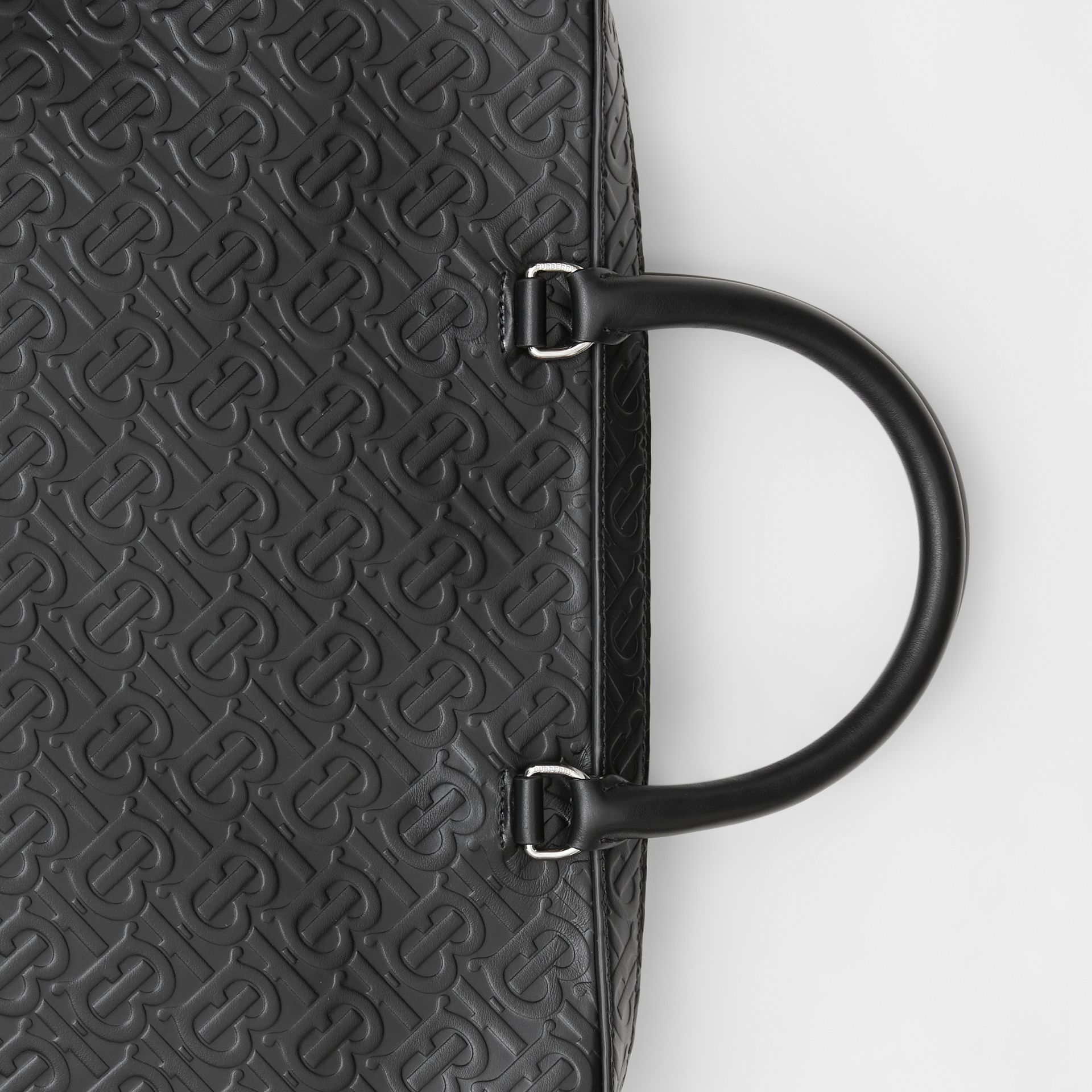 Monogram Leather Briefcase in Black - Men | Burberry Singapore - gallery image 1