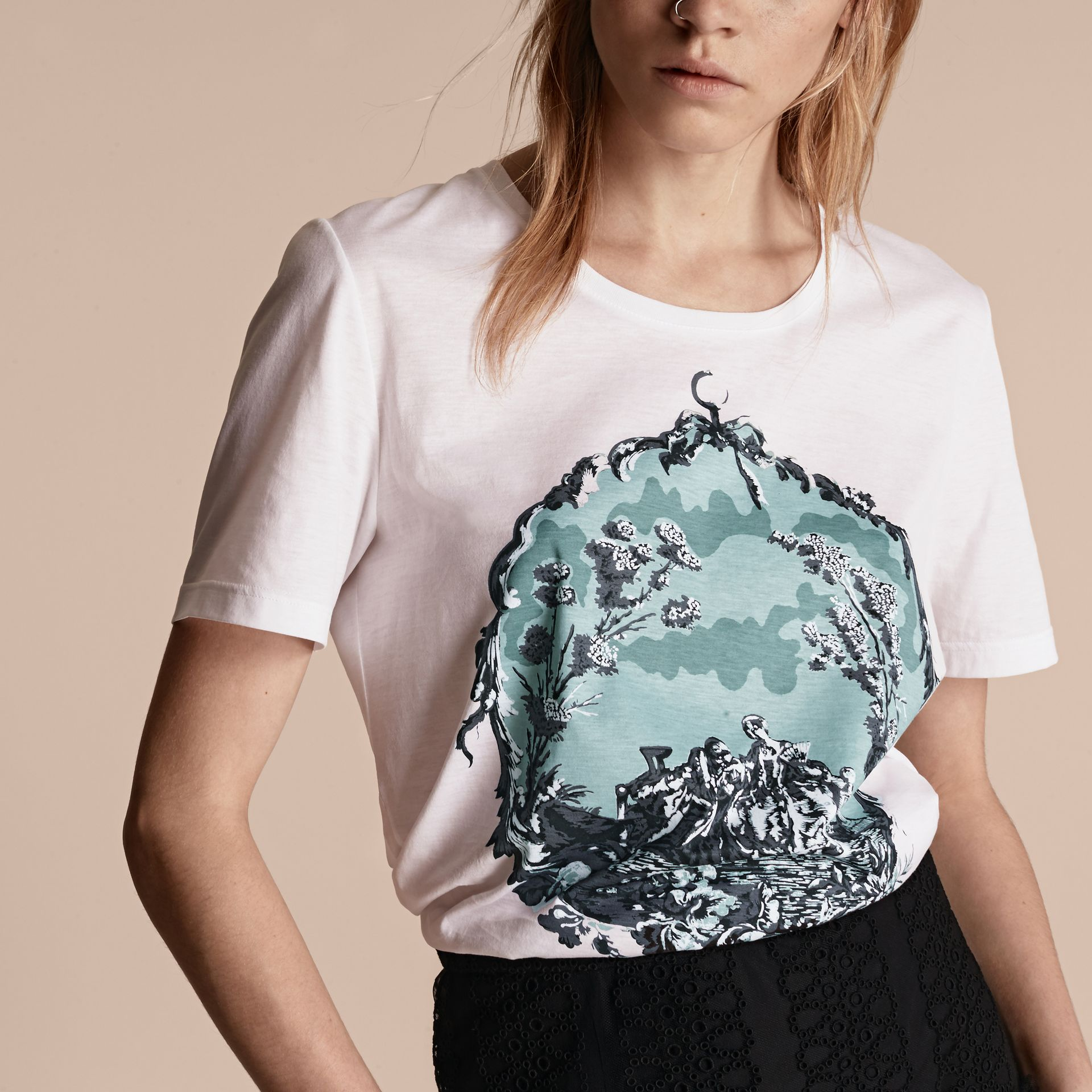 Wallpaper Print Cotton T-shirt - gallery image 5
