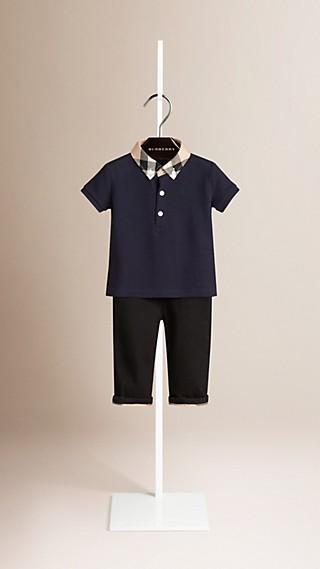 Check Collar Polo Shirt
