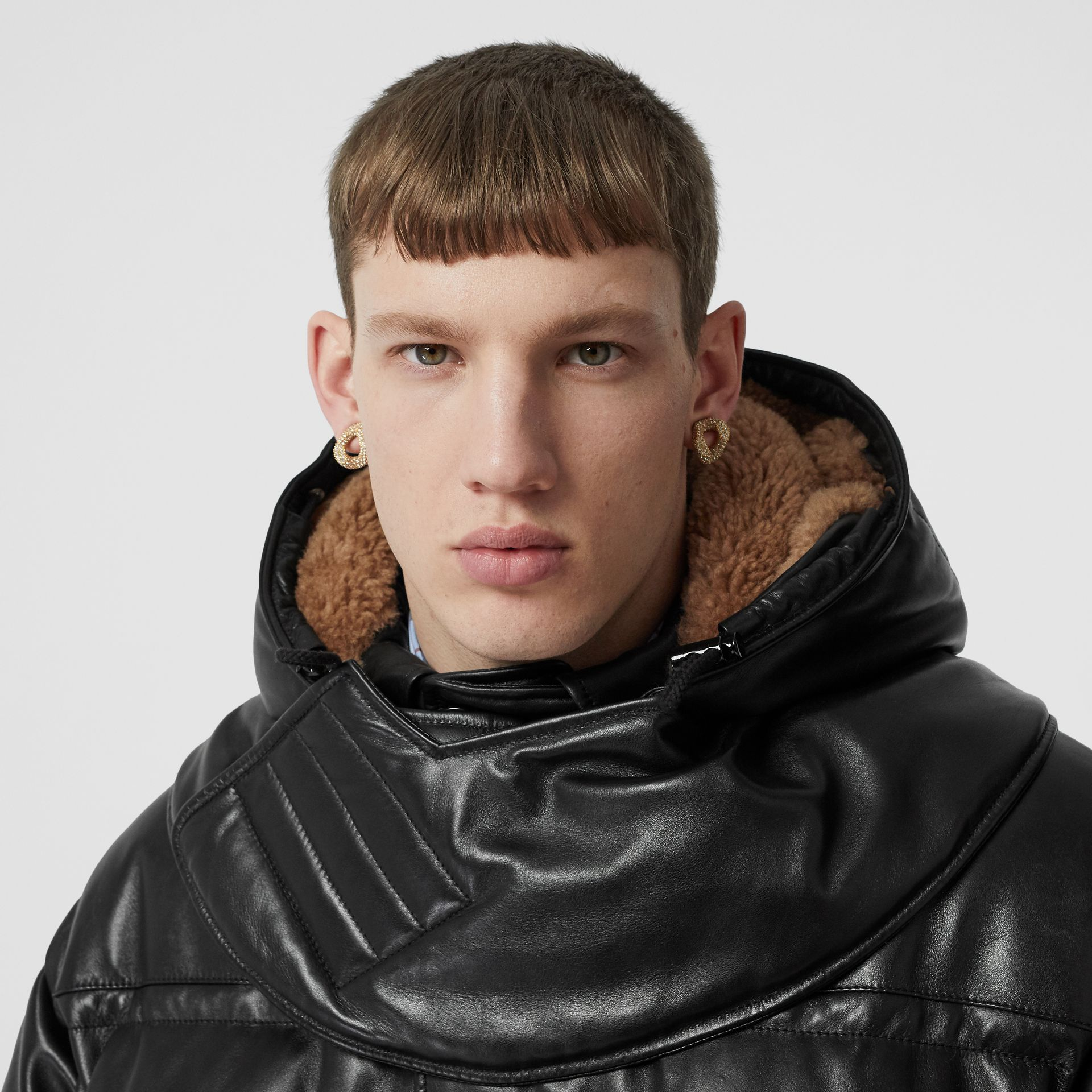 Plonge Lambskin Puffer Jacket in Black - Men | Burberry - gallery image 6