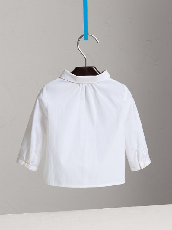 Peter Pan Collar Cotton Shirt in White - Girl | Burberry - cell image 3
