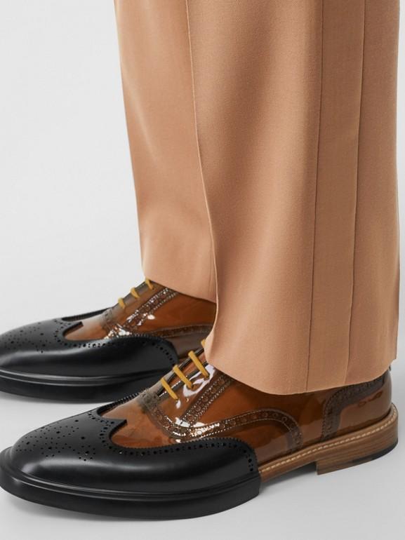 Elegante Wollhose mit Streifendetails (Warmes Camelfarben) - Herren | Burberry - cell image 1