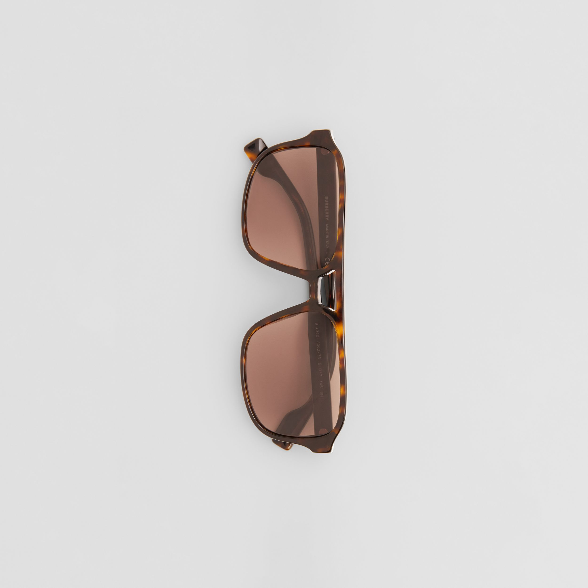 Square Frame Sunglasses in Tortoiseshell - Men | Burberry - 4