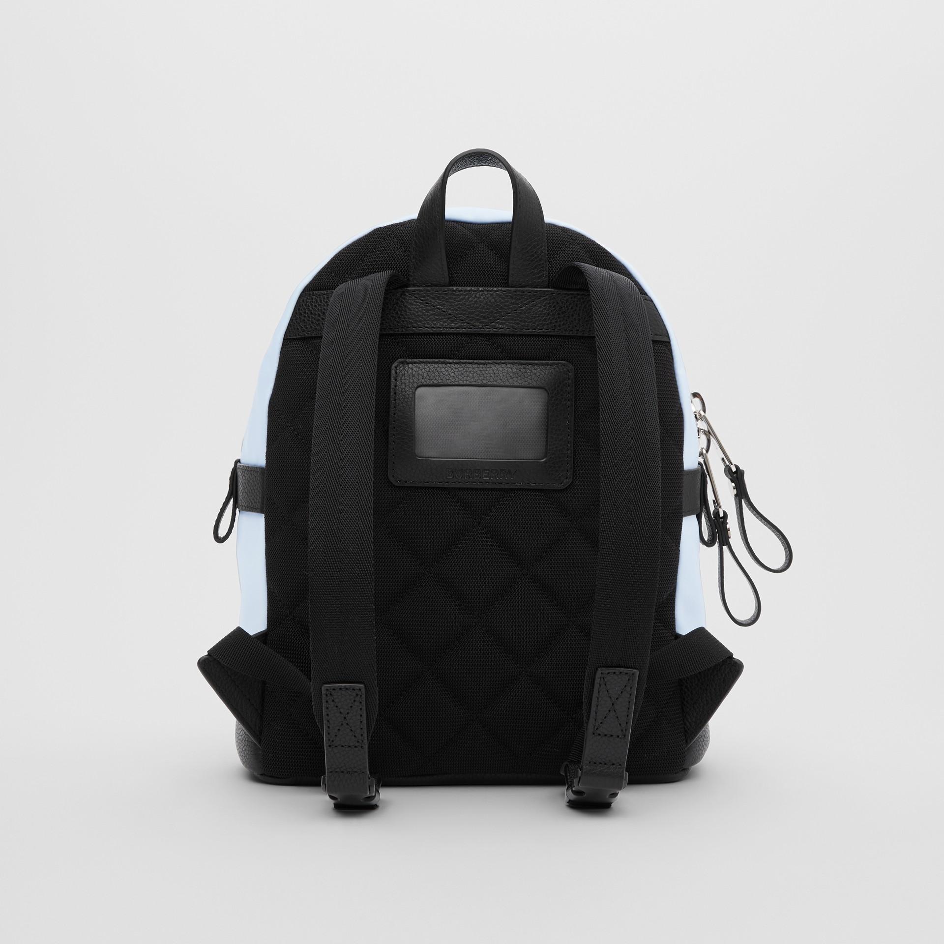 Logo Appliqué Icon Stripe ECONYL® Backpack in Pale Blue - Children | Burberry United Kingdom - gallery image 5