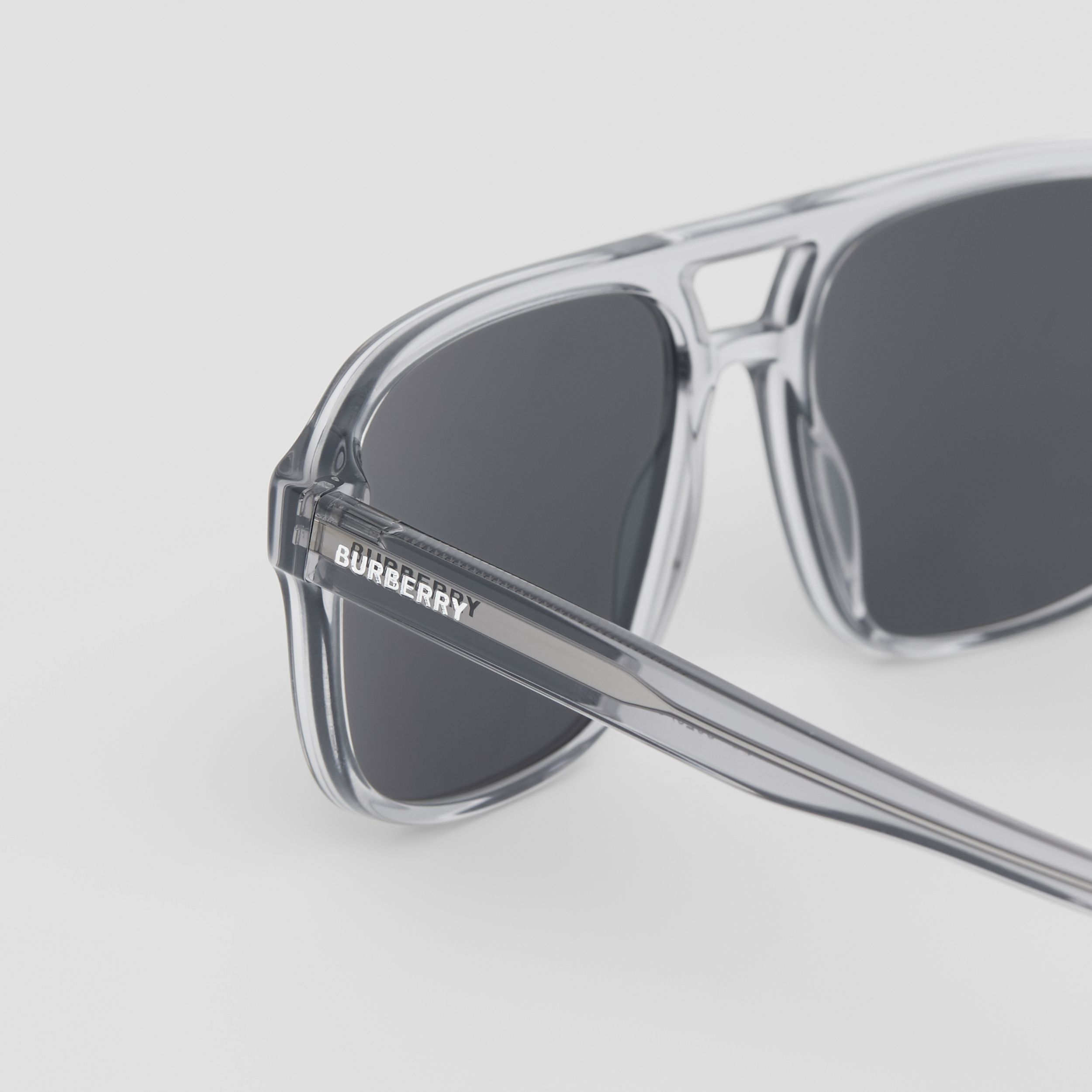 Square Frame Sunglasses in Grey - Men | Burberry - 2