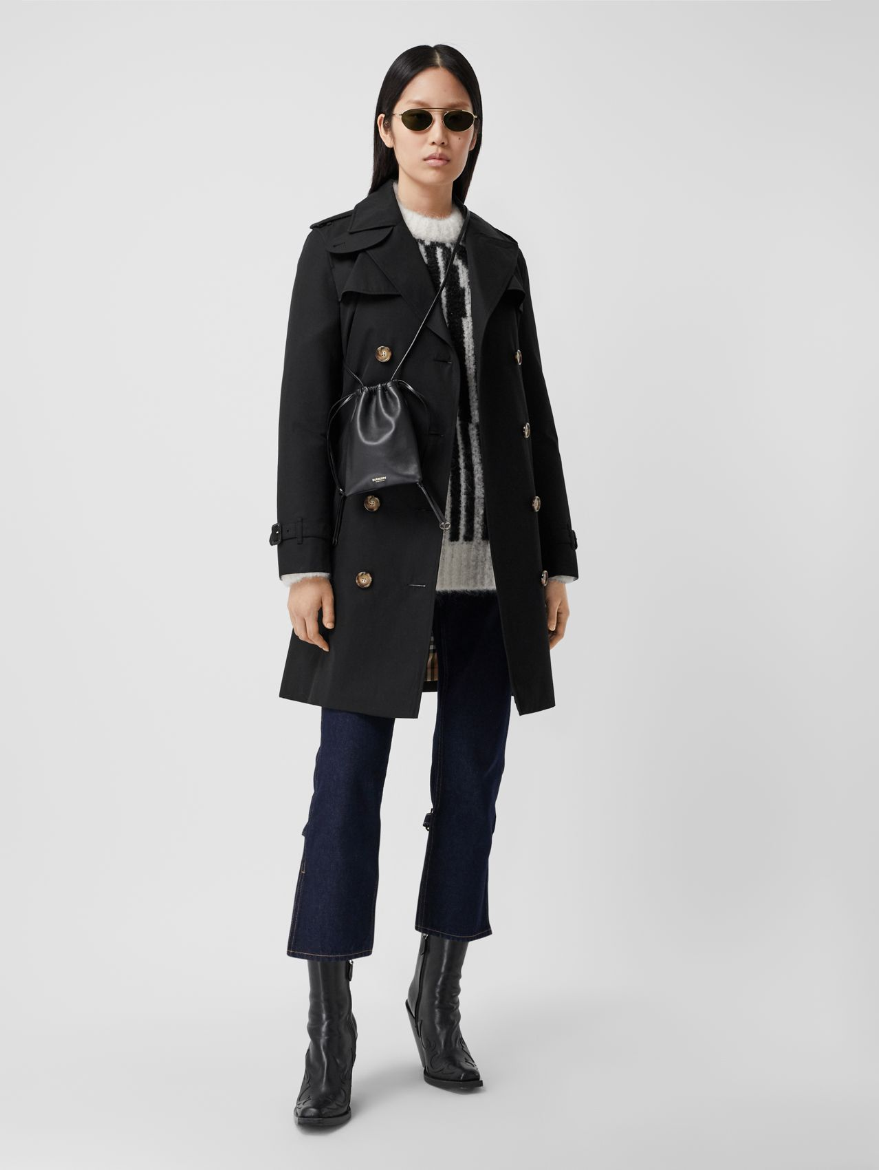 Trench coat corto Islington (Nero)