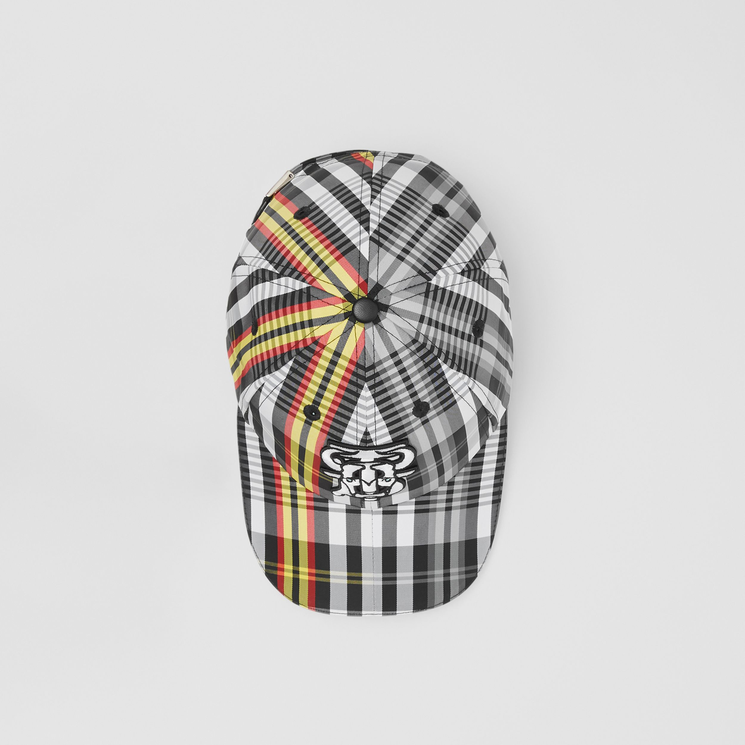 Monogram Motif Check Nylon Baseball Cap in Grey | Burberry - 4