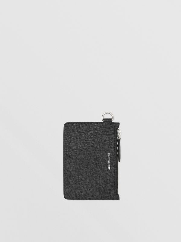 Grainy Leather Zip Coin Case in Black - Men | Burberry United Kingdom - cell image 2