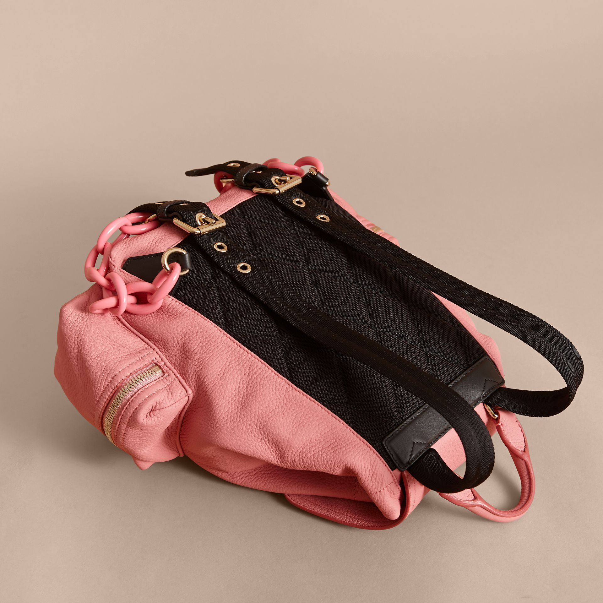 The Medium Rucksack in Deerskin with Resin Chain in Blossom Pink - Women | Burberry Singapore - gallery image 4