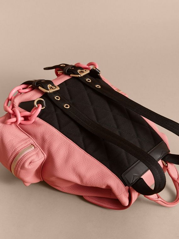The Medium Rucksack in Deerskin with Resin Chain in Blossom Pink - Women | Burberry Singapore - cell image 3