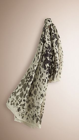 Animal Print Silk Georgette Scarf