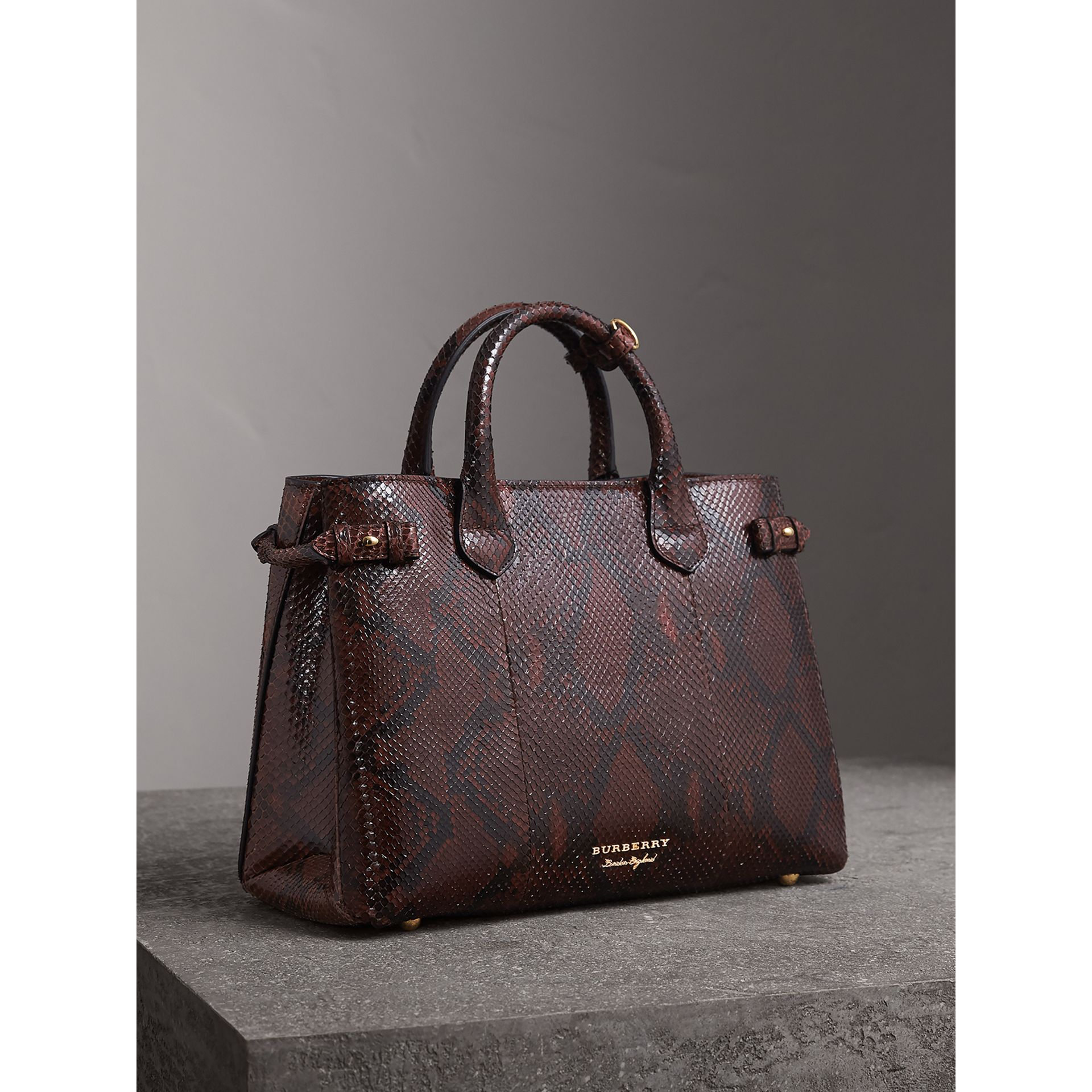 The Medium Banner in Python in Chocolate - Women | Burberry United Kingdom - gallery image 0