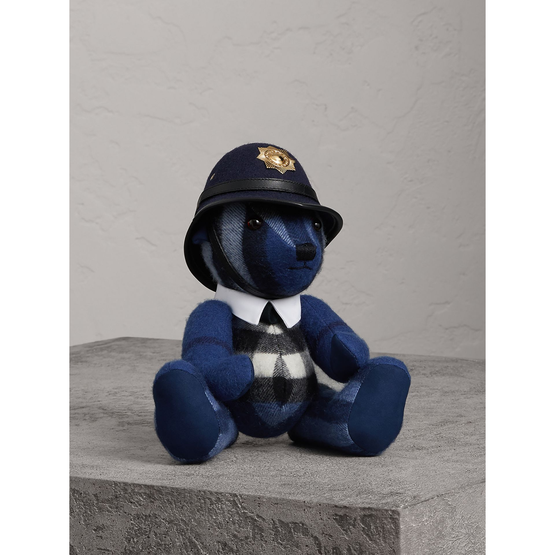 The Bobby Thomas Bear in Cadet Blue | Burberry - gallery image 0
