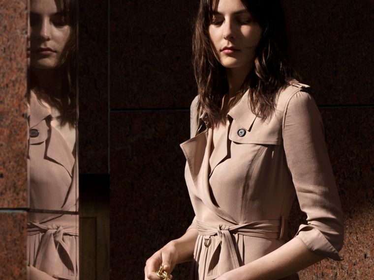 Silk Trench Dress Nude - cell image 4