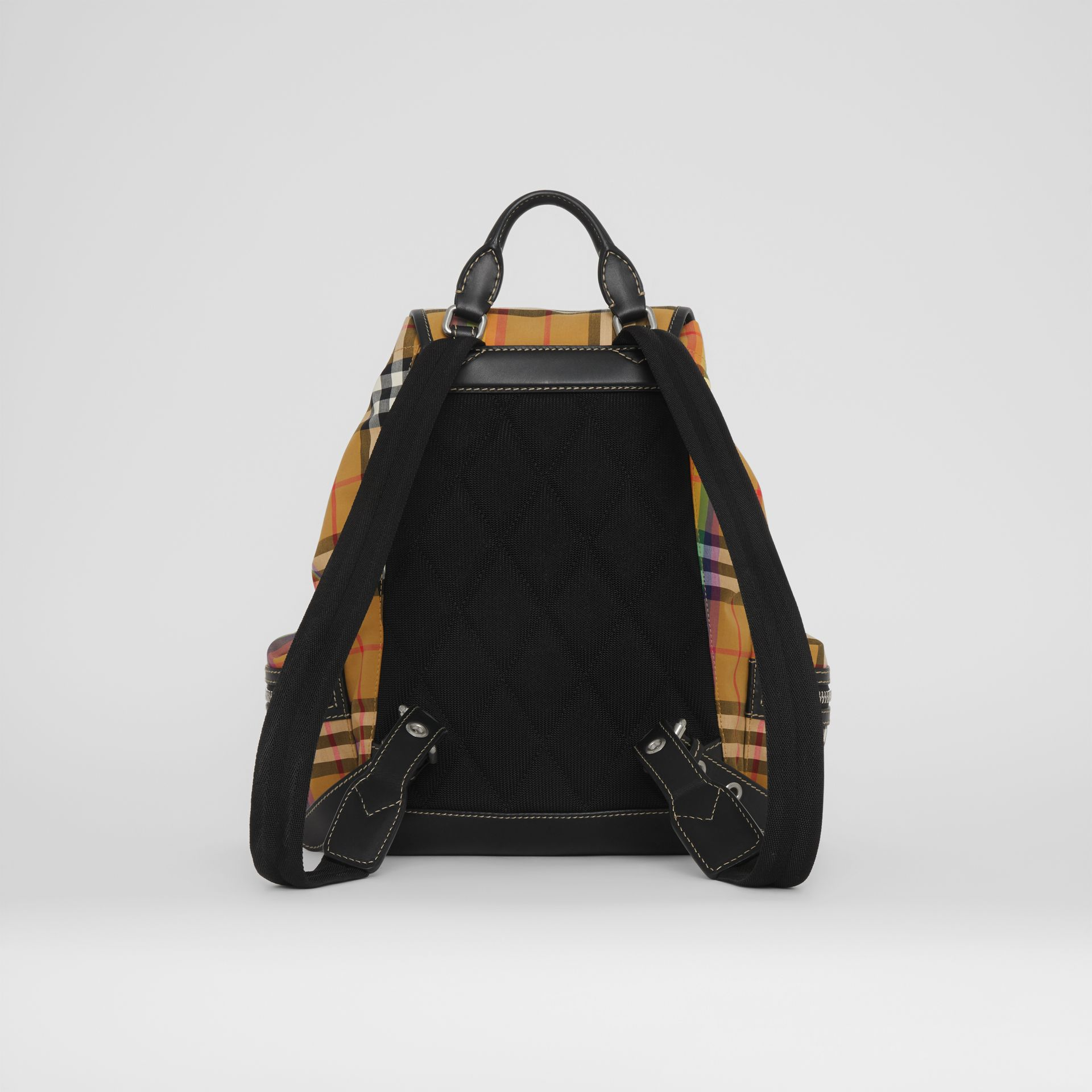 The Medium Rucksack in Rainbow Vintage Check in Antique Yellow - Women | Burberry United Kingdom - gallery image 7