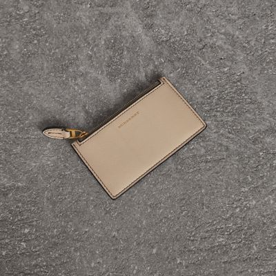 Two Tone Leather Card Case by Burberry