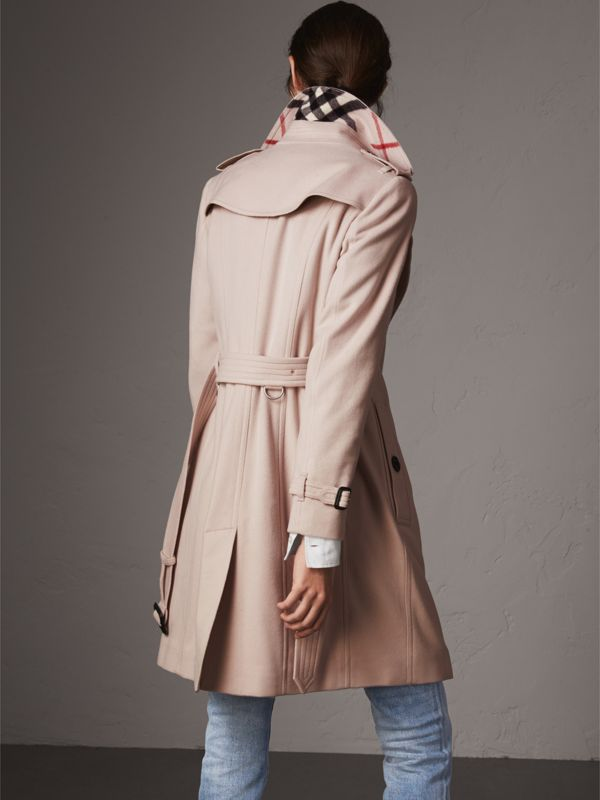 Sandringham Fit Cashmere Trench Coat in Pale Nude - Women | Burberry - cell image 2