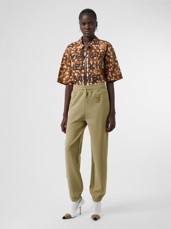 Pantalon de survêtement technique Monogram (Camel)