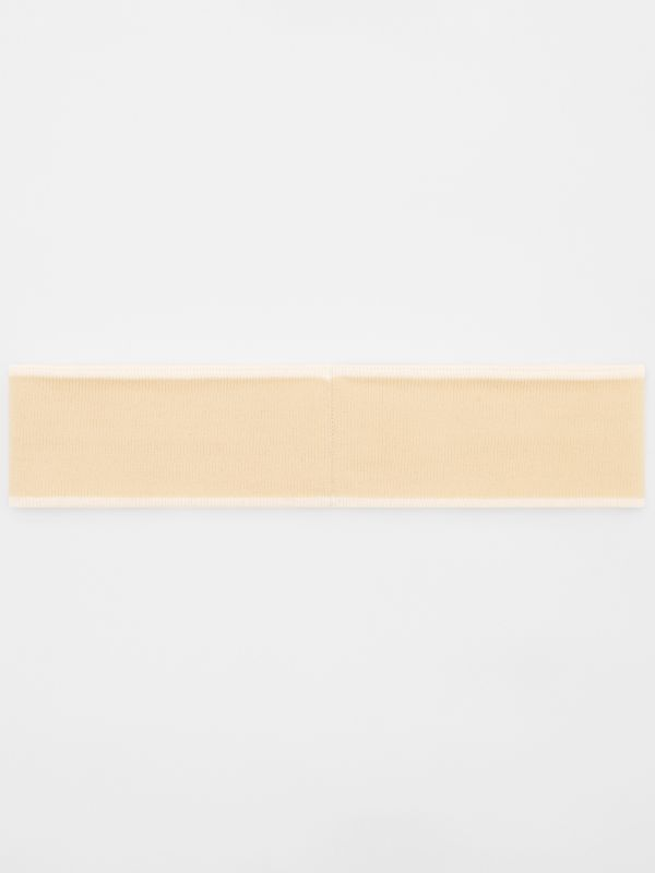 Logo Intarsia Wool Blend Headband in Beige/optic White | Burberry United States - cell image 3