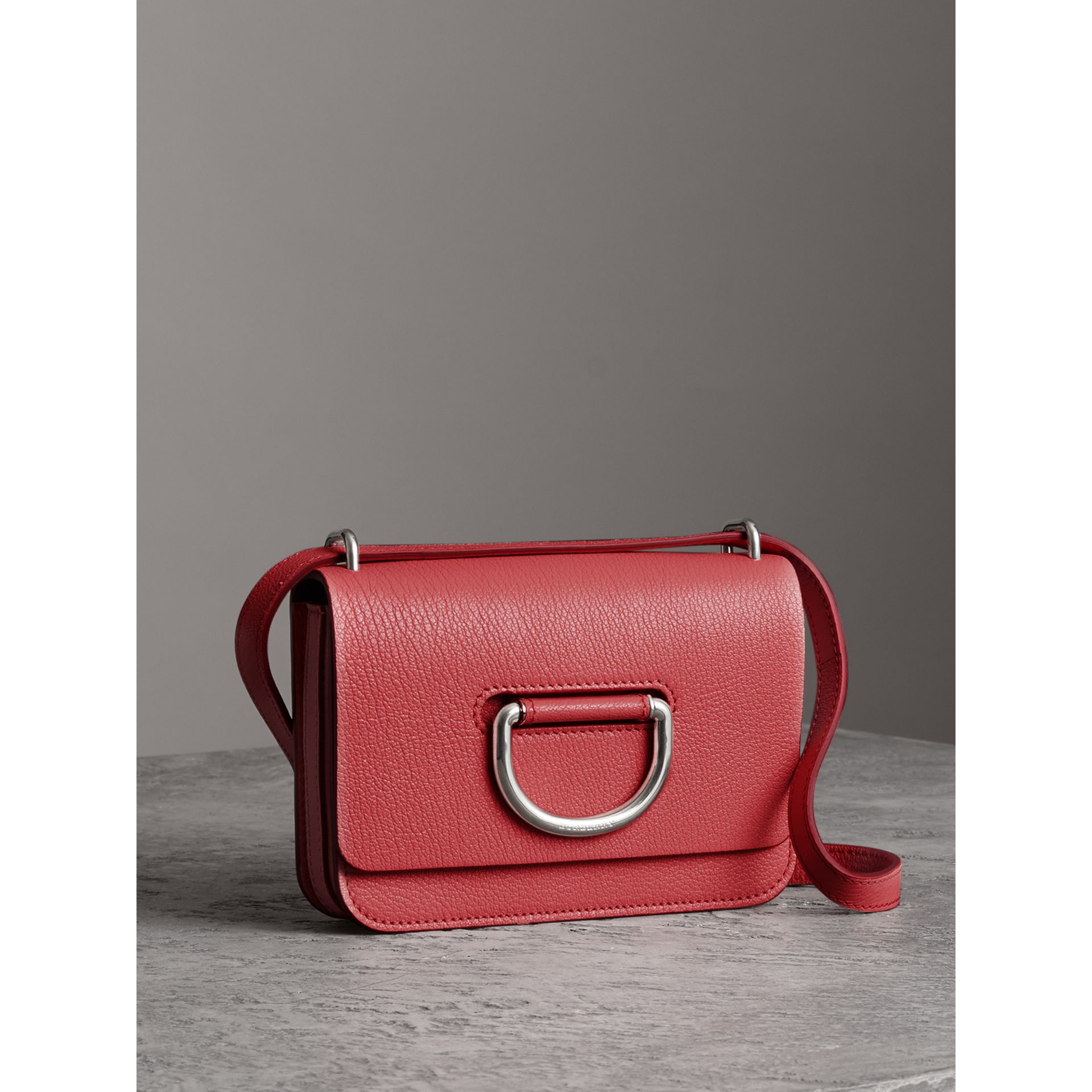 The Mini Leather D-Ring Bag in Bright Coral Pink - Women | Burberry - gallery image 6