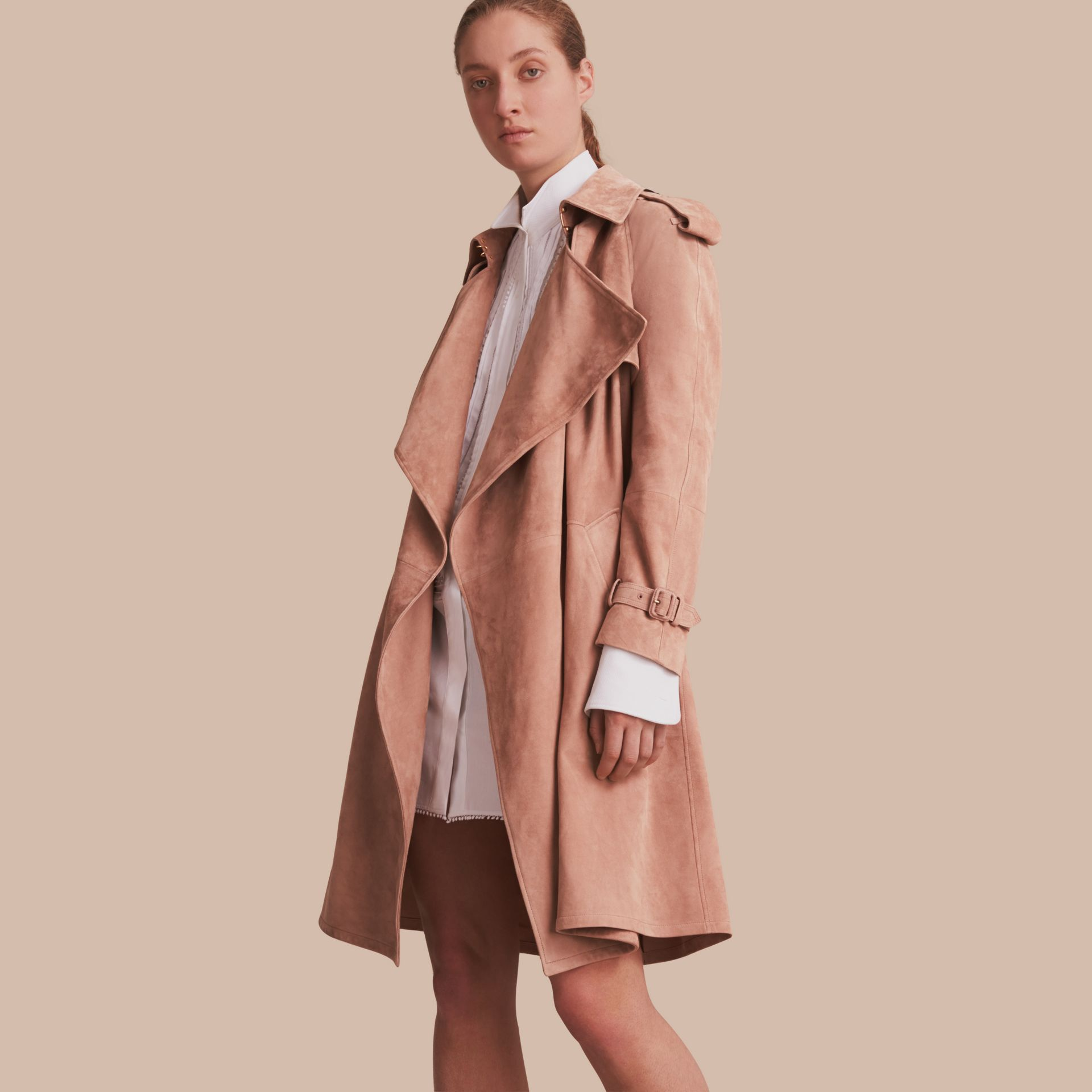 Suede Wrap Trench Coat - Women | Burberry - gallery image 1