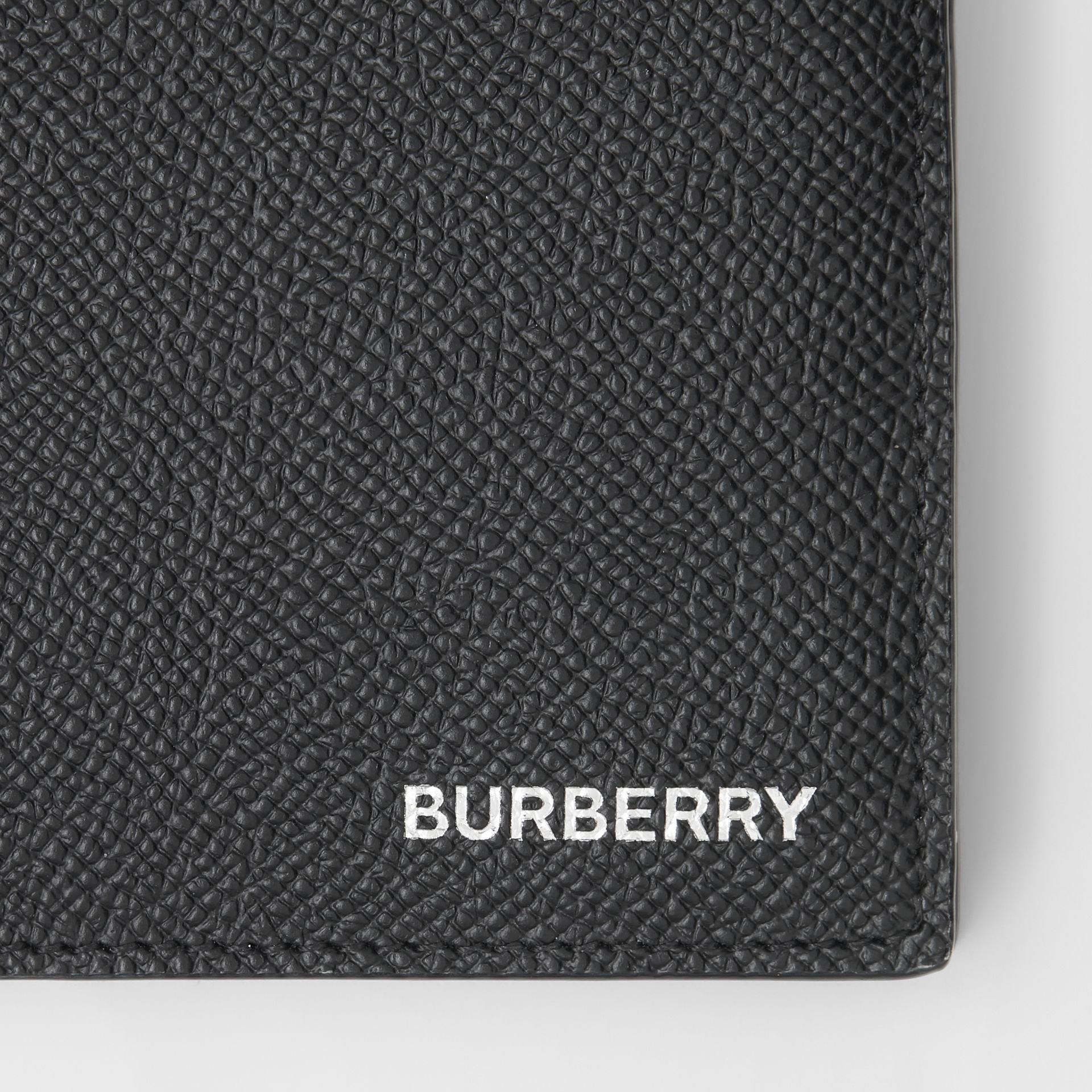 Grainy Leather Bifold Wallet with ID Card Case in Black - Men | Burberry United Kingdom - gallery image 1