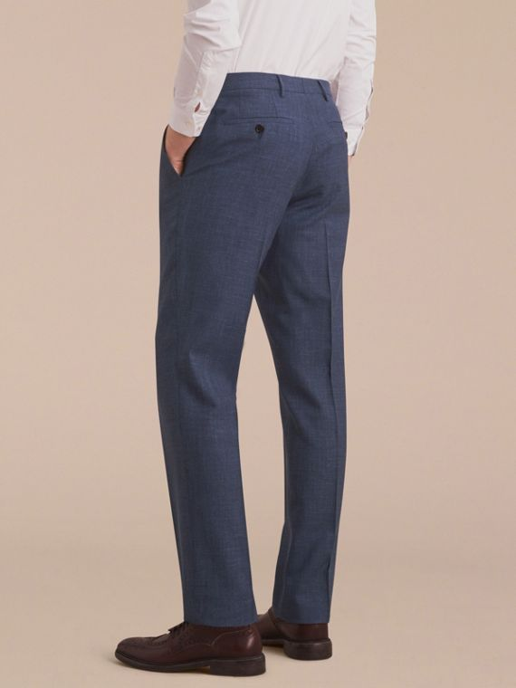 Modern Fit Wool Silk Blend Trousers - Men | Burberry Australia - cell image 2