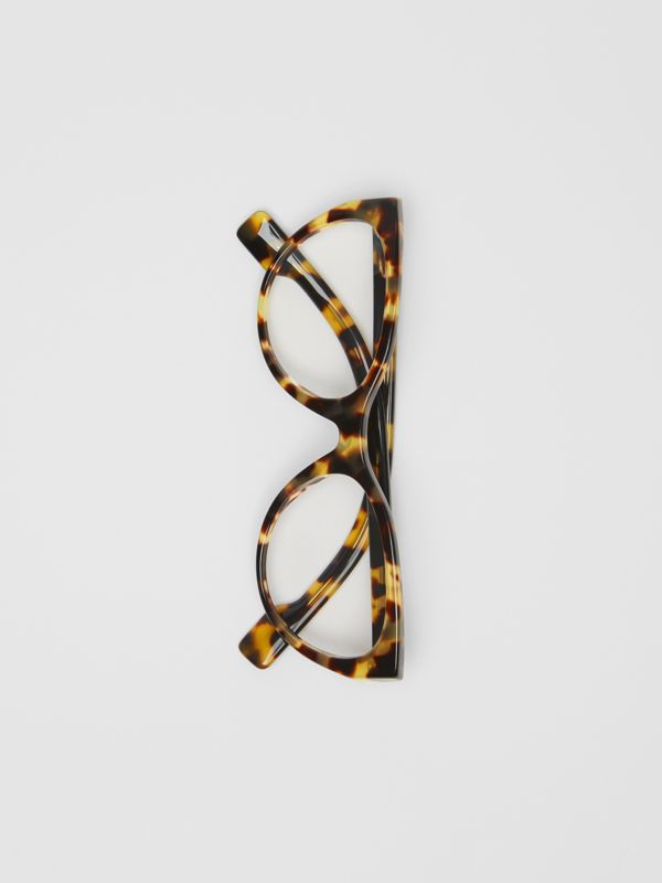 Cat-eye Optical Frames in Tortoise Shell - Women | Burberry - cell image 3