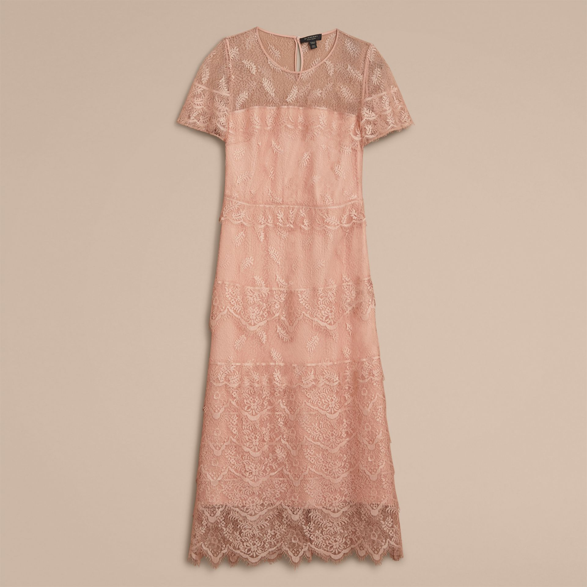 Tiered Lace Shift Dress - gallery image 4
