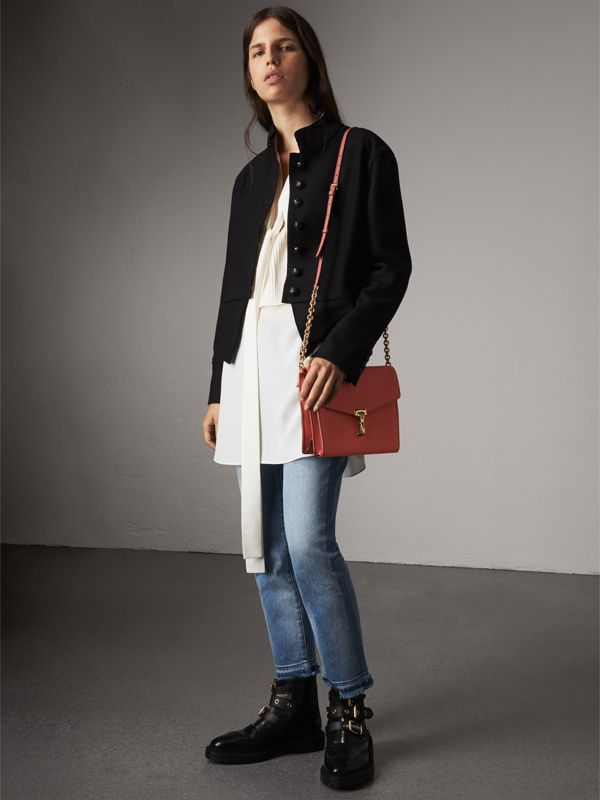 Small Leather Crossbody Bag in Cinnamon Red - Women | Burberry - cell image 2