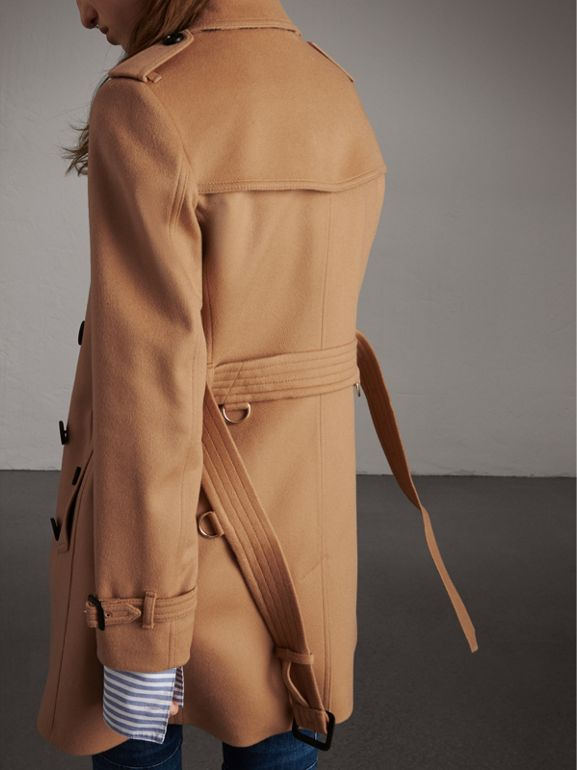 Wool Cashmere Trench Coat in Camel - Women | Burberry - cell image 1