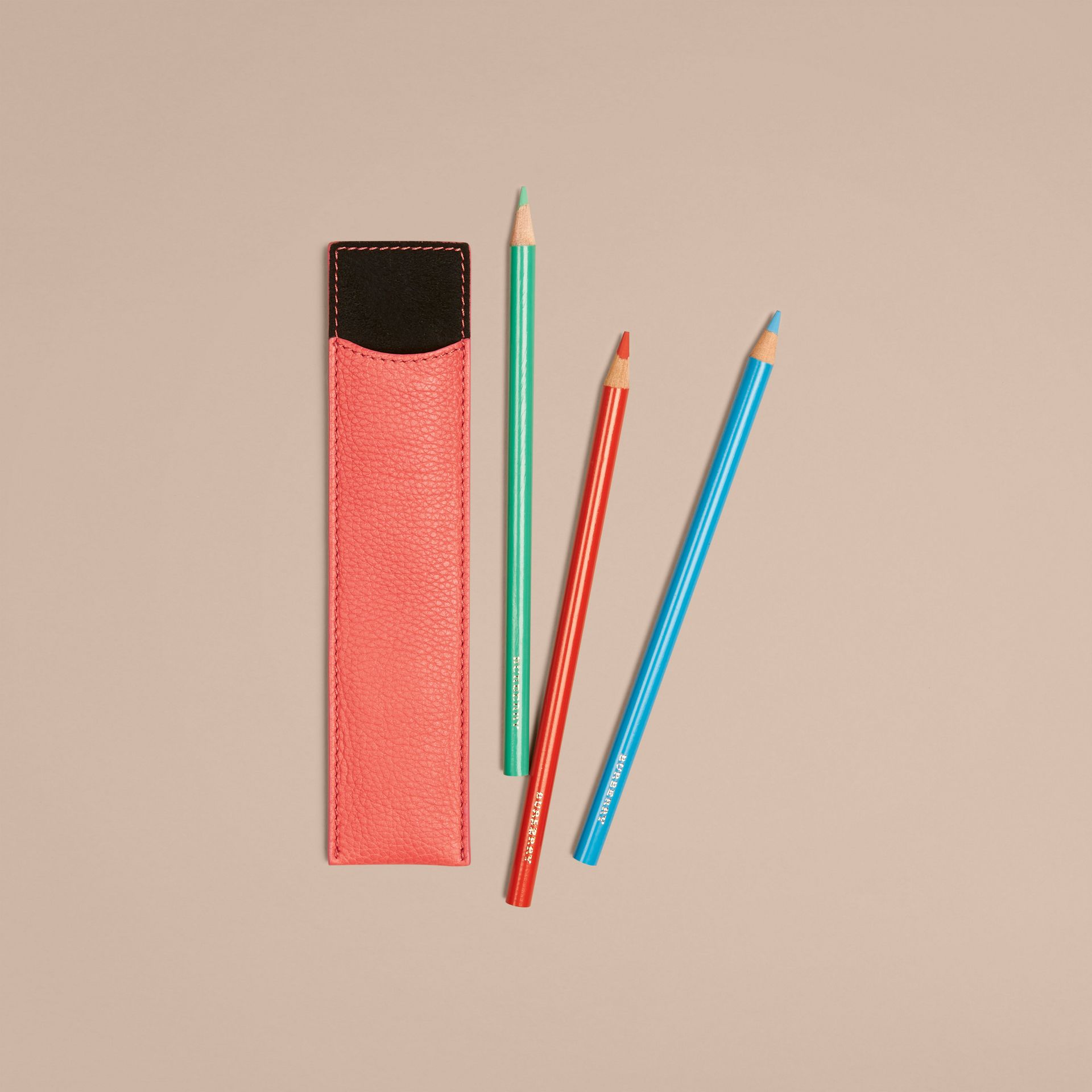 Bright peony Grainy Leather Pencil Sleeve Bright Peony - gallery image 3