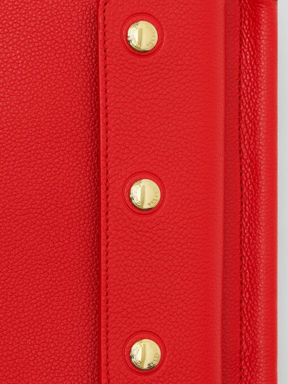 Mini Leather Title Bag with Pocket Detail in Bright Military Red - Women | Burberry Singapore - cell image 1