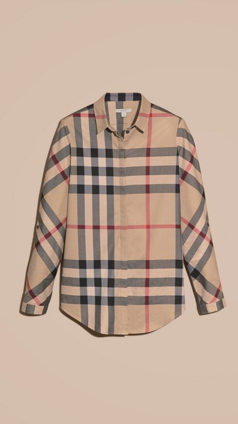 New classic check Stretch-Cotton Check Shirt - Image 4
