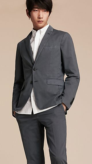 Slim Fit Stretch-cotton Blazer