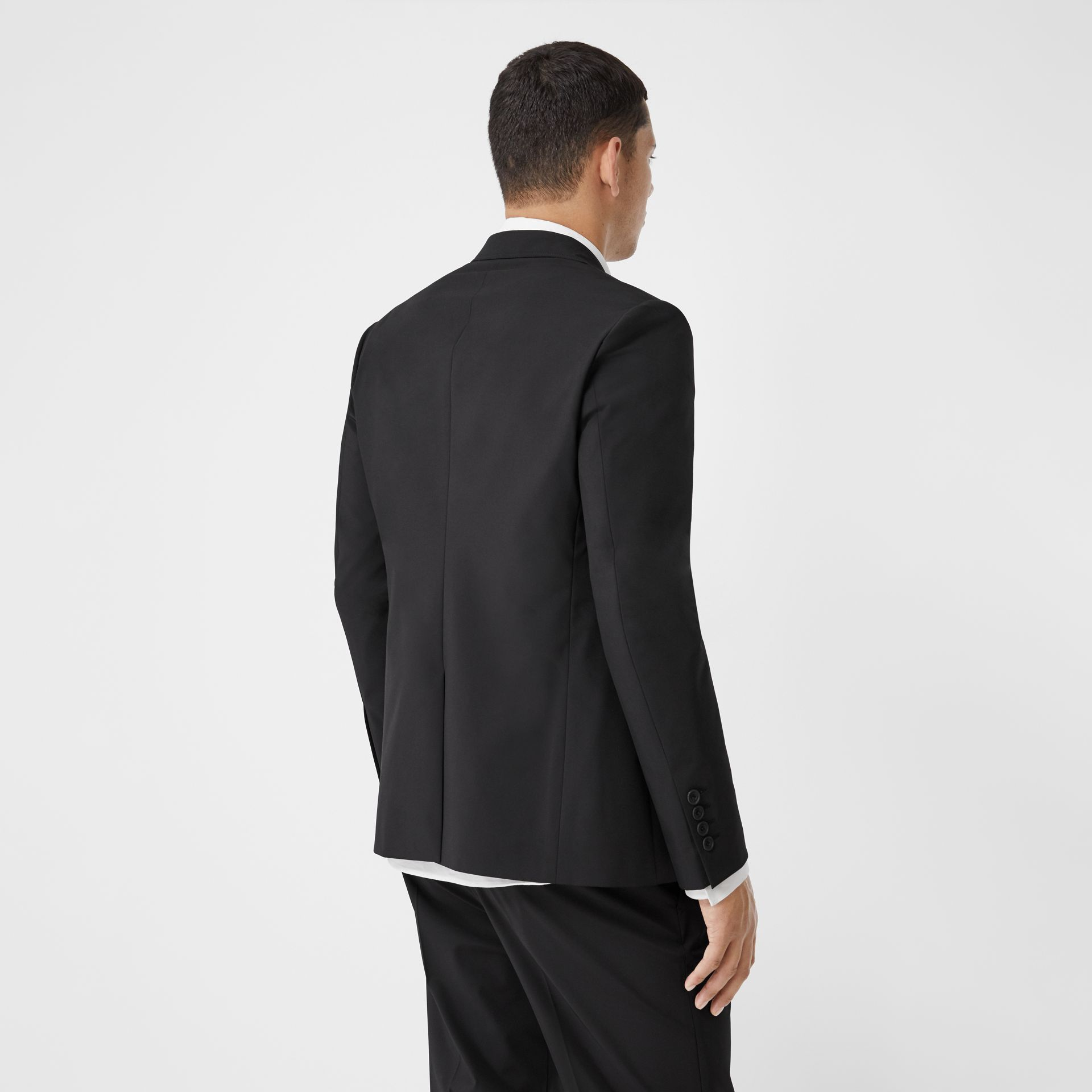 Slim Fit Technical Nylon Tailored Jacket in Black - Men | Burberry Australia - gallery image 2