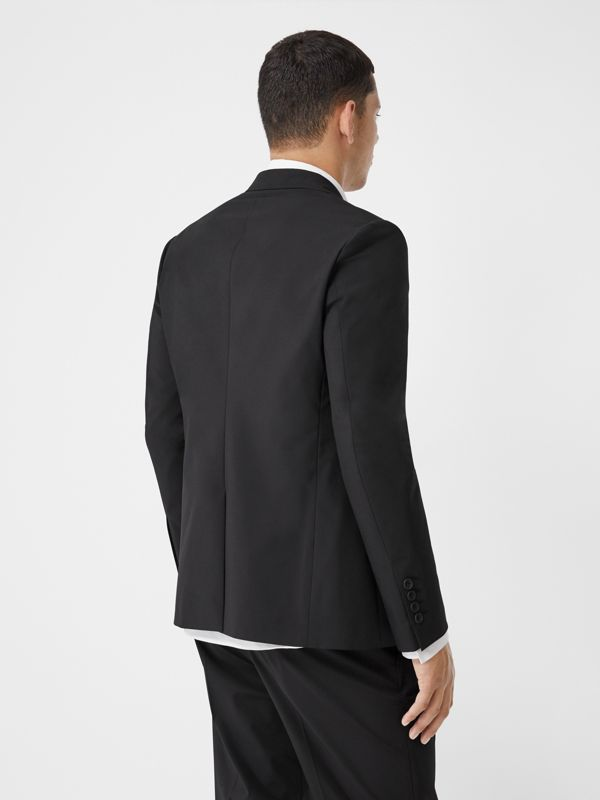 Slim Fit Technical Nylon Tailored Jacket in Black - Men | Burberry Australia - cell image 2