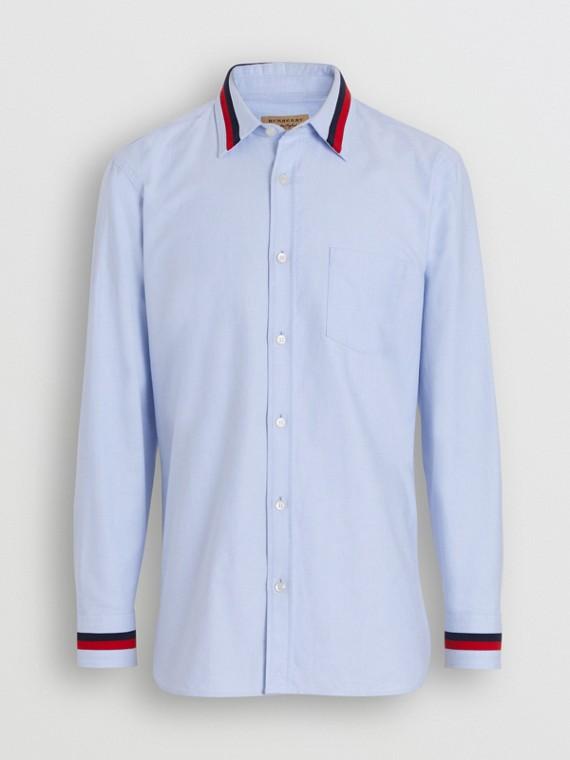 Oxford-Hemd aus Baumwolle mit Strickdetail (Kornblumenblau)