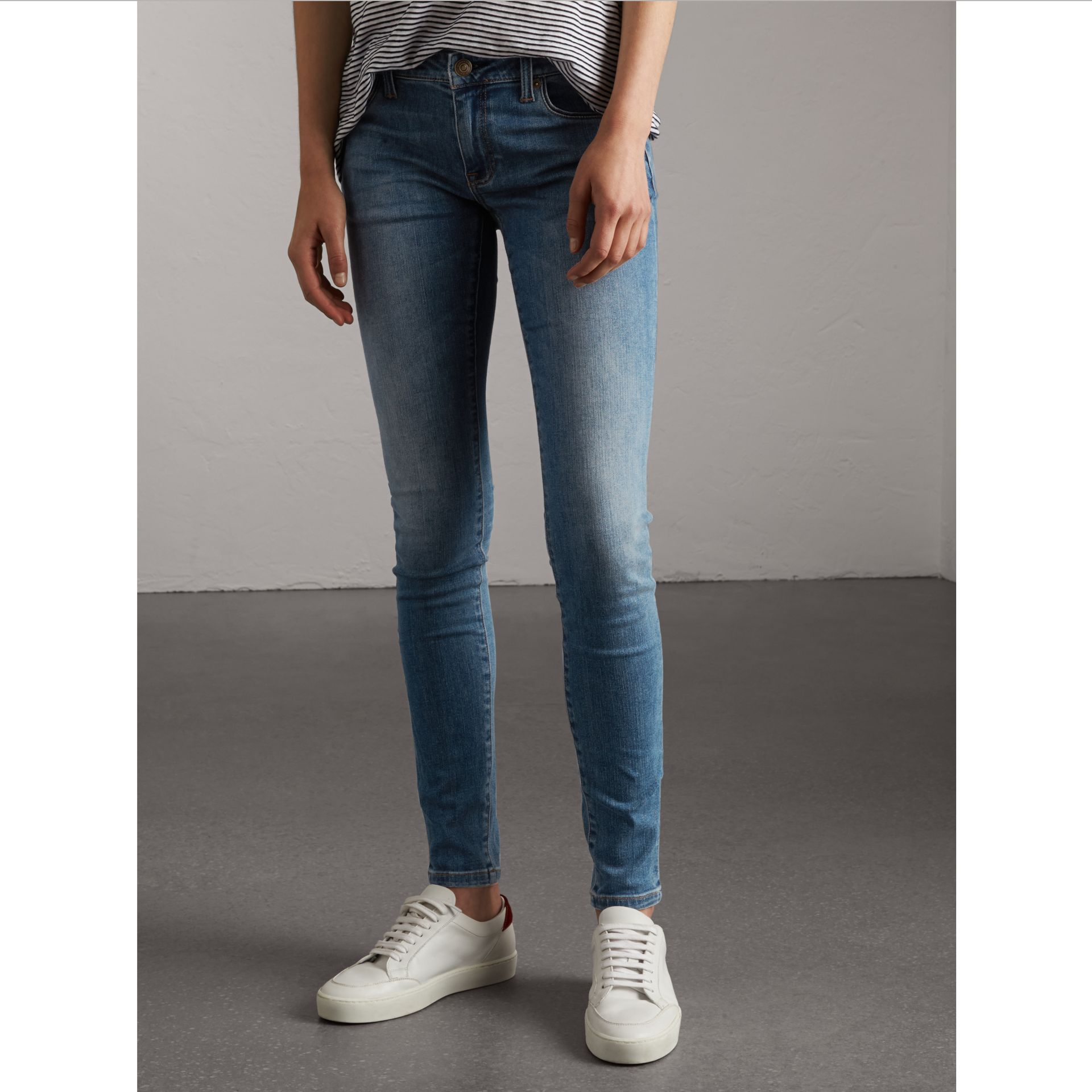 Skinny Low-Rise Vintage Wash Jeans - Women | Burberry Singapore - gallery image 1