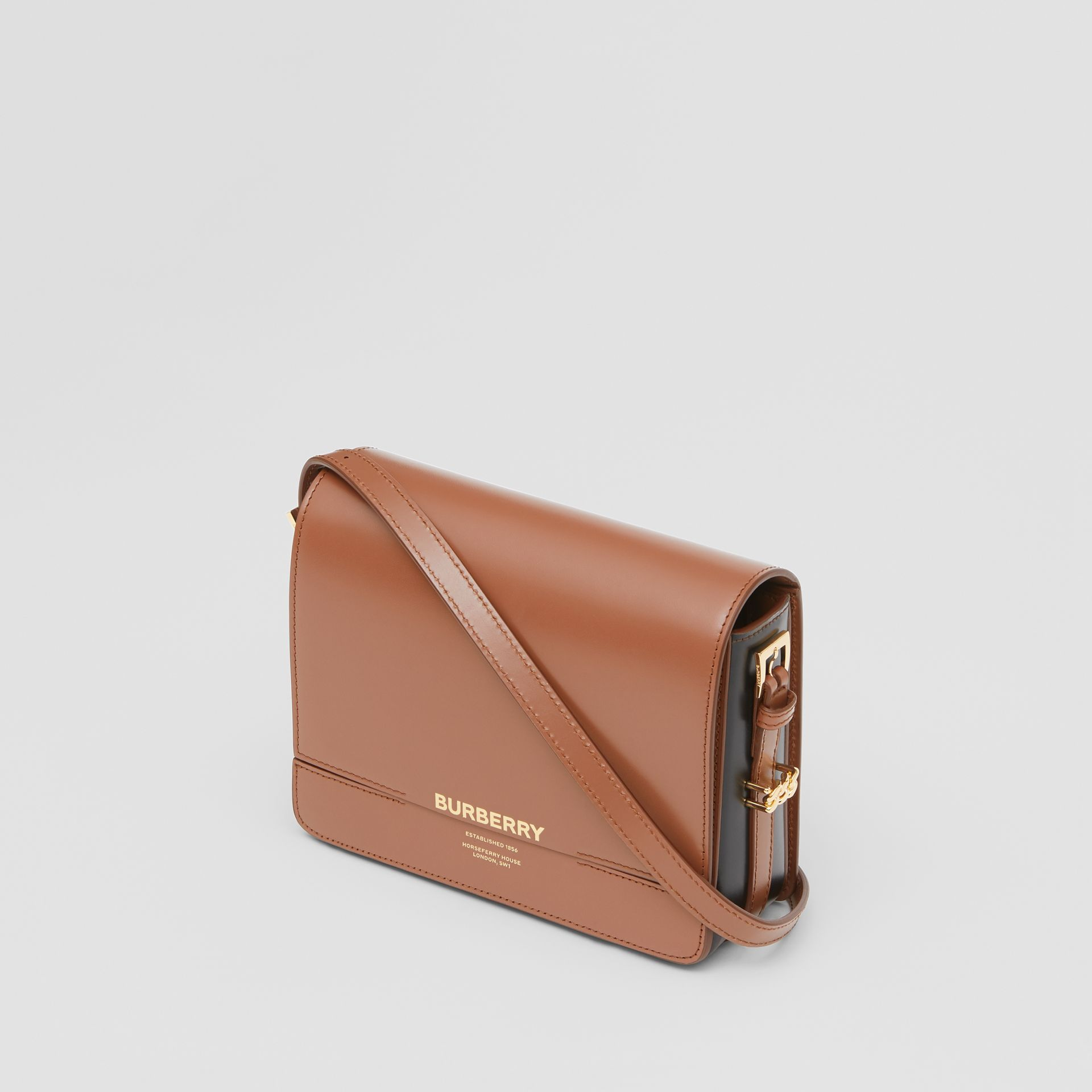 Small Two-tone Leather Grace Bag in Malt Brown/black - Women | Burberry - gallery image 3